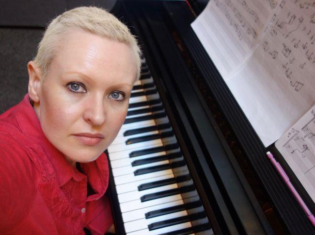Female at piano
