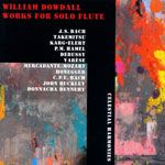 William Dowdall Works for Solo Flute cover